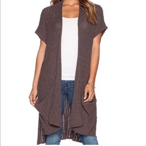 Free People Sloppy Pocket Cardigan Vest